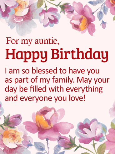 Happy birthday wishes for auntie
