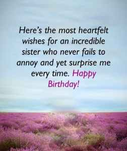 Happy Wishes for sister