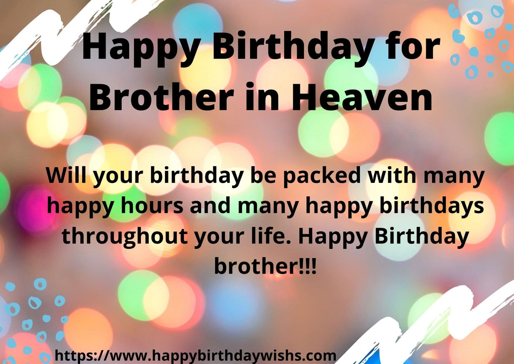 100 Happy Birthday Wishes In Heaven Brother Happy Birthday Wishes