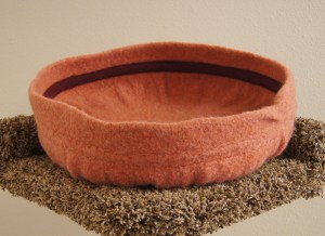 Felted cat bed by Sarah Philips