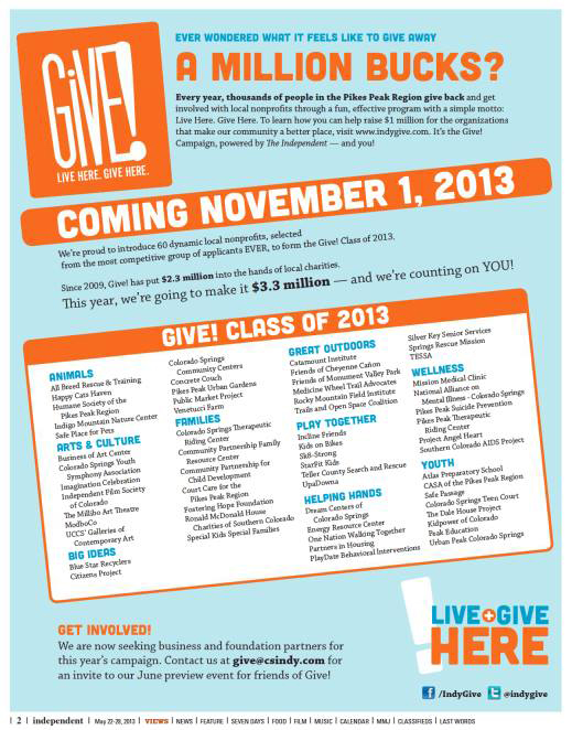 Indy Give, Class of 2013