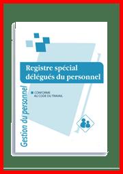 Registre de la délégation du personnel du CSE pour les entreprises de moins de 50 salariés.