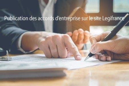 Publication des accords d'entreprise sur le site Legifrance