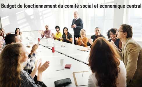 Budget de fonctionnement du comité social et économique central