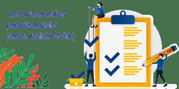 Accord sur les consultations ponctuelles obligatoires (contenu, organisation et délais)