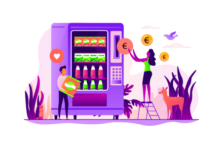 Distributeurs automatiques (boissons, snack, friandises, etc.) gérées par le CSE :