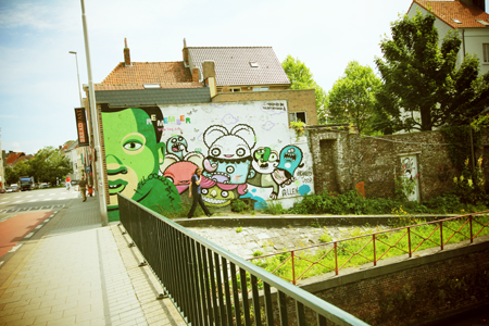Happy Belgique - Visites et street art - Bue The Warrior