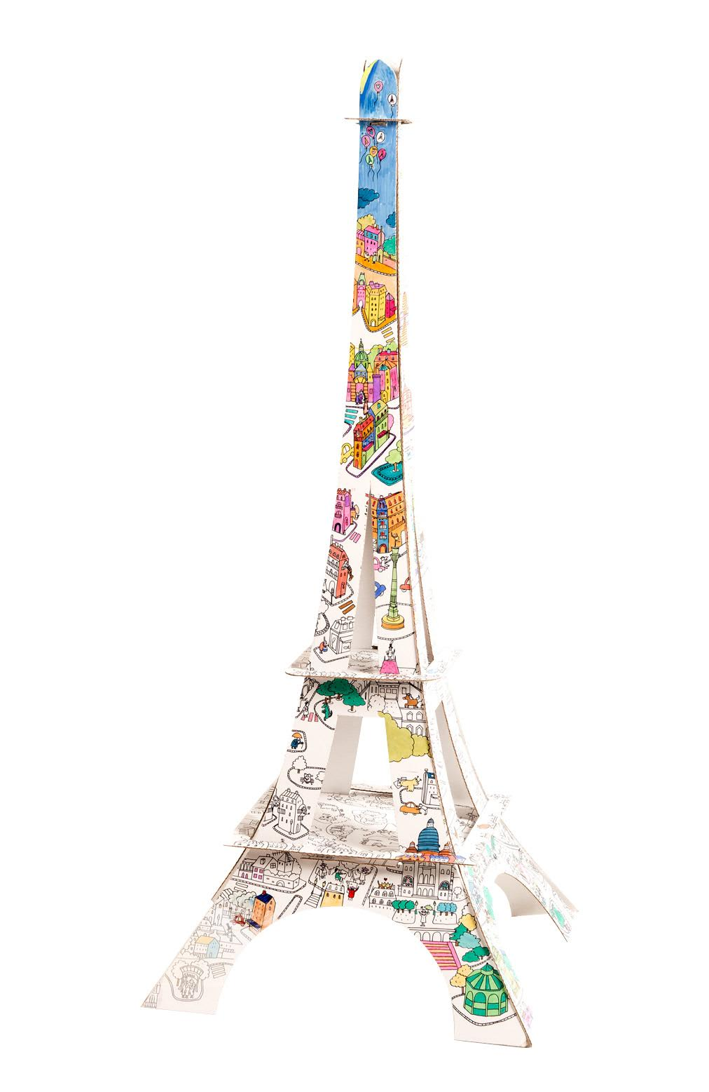 Tour Eiffel à colorier HD