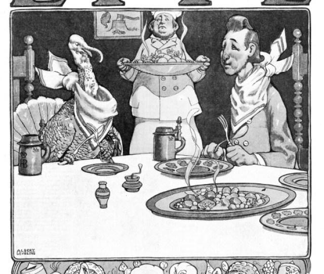 Albert Levering   The Vegetarians Thanksgiving Cover Illustration For Life