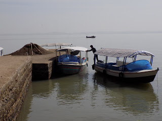 This photo shows the boat that we went in across Lake Tana to the Zege Peninsula