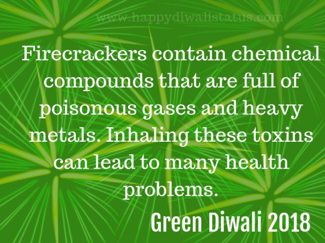 Environment clean and green Diwali in this year, representation and text