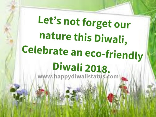 What is Green Diwali? Benefits of Green Diwali in our area.