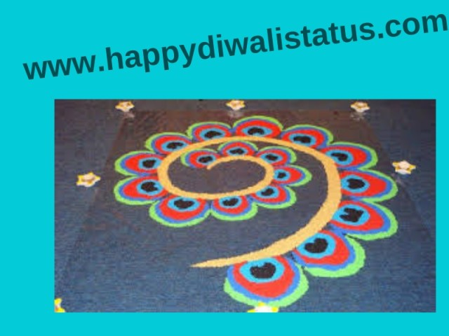 The easy way to make Rangoli and wonderful Rangoli Design with colors