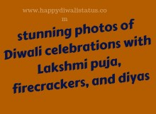stunning photos of Diwali celebrations with Lakshmi puja, firecrackers, and diyas