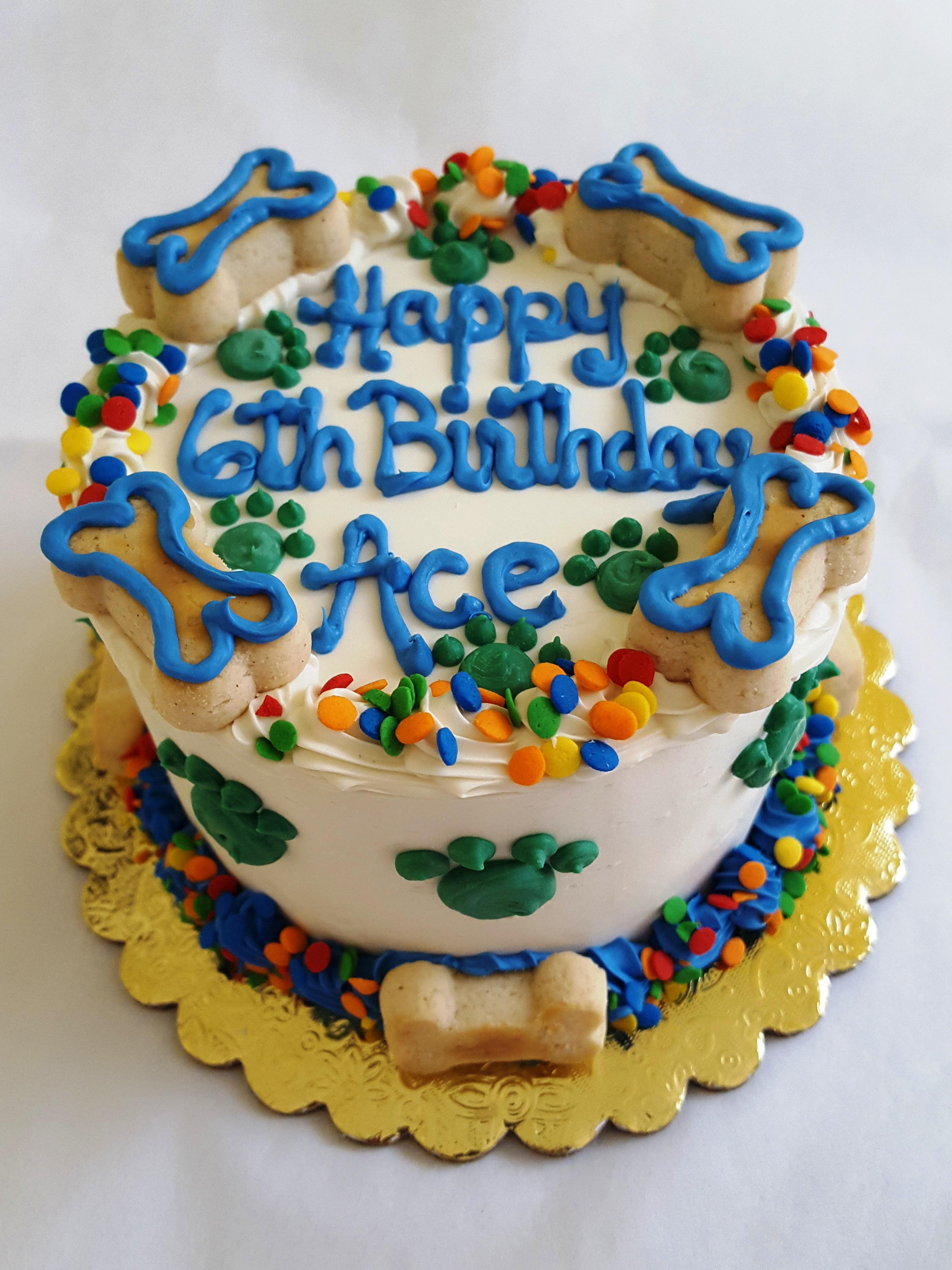 Dog Cake 4 Dog Birthday Cake W Bones Happy Dog Barkery