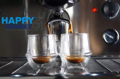 Image displaying start of the espresso pour.