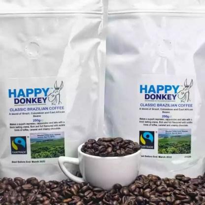 Image displaying brazilian fair trade coffee.