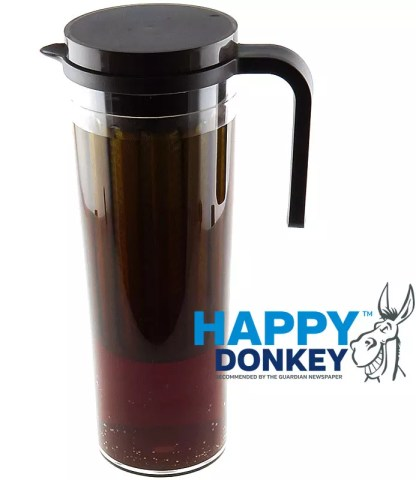 Image displaying Happy Donkey coffee cold brew jug.