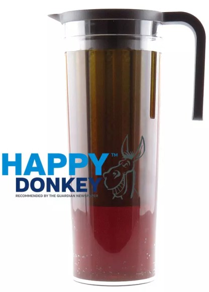 Image displaying Happy Donkey cold brew in motion.