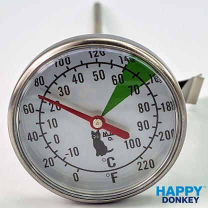 Image displaying milk foaming motta thermometer