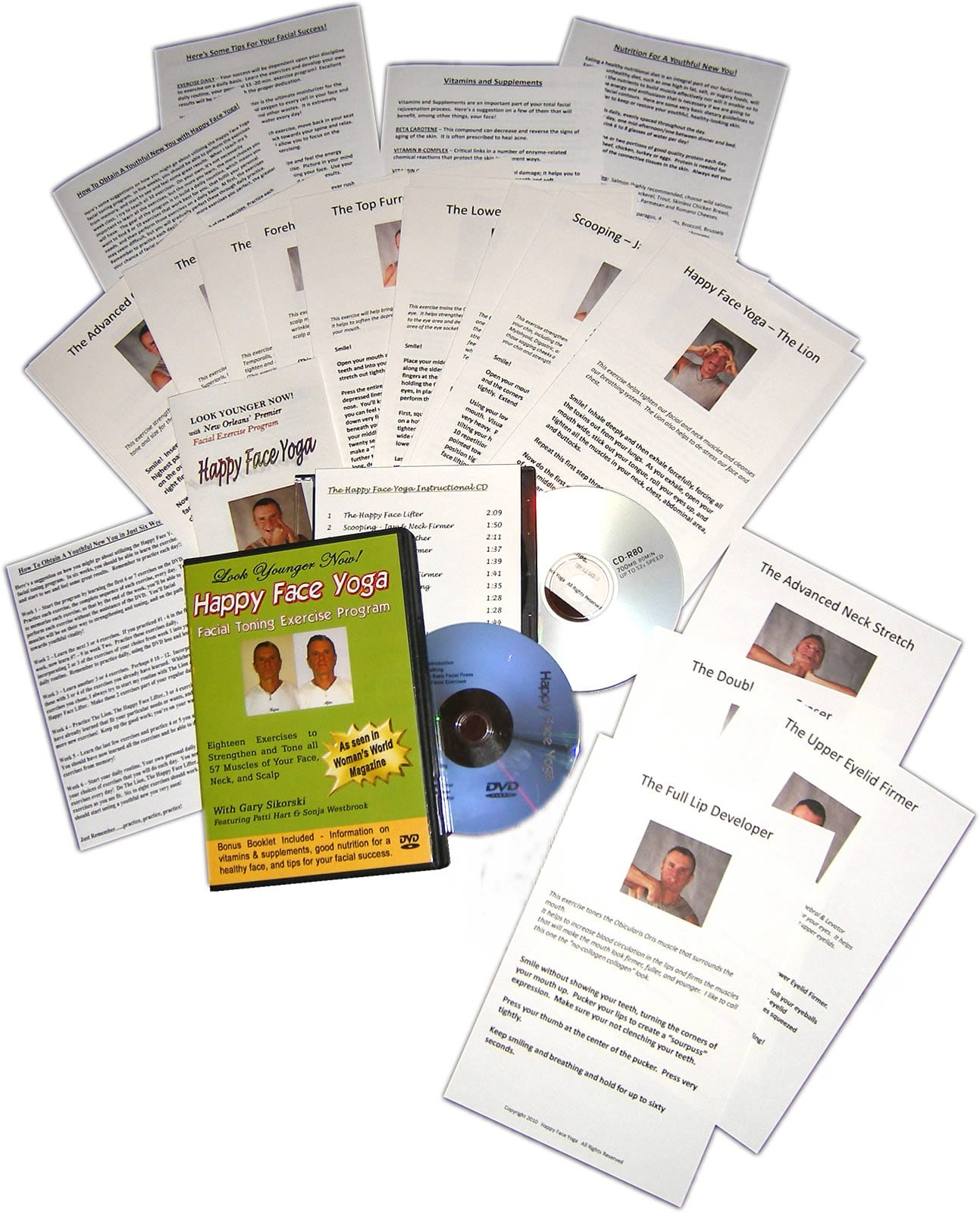 Happy Face Yoga Complete Package Worksheets Amp Dvd Mailed