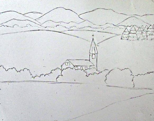 Simple Seascape Drawings