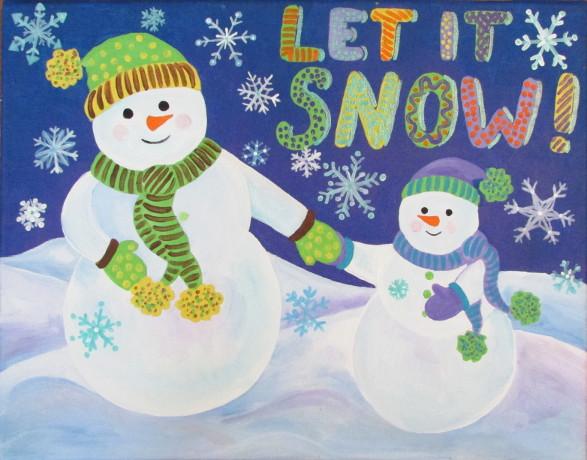 Christmas Pictures Paint Canvas