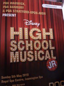 PQA Warwick High School Musical Jr Theatre Programme