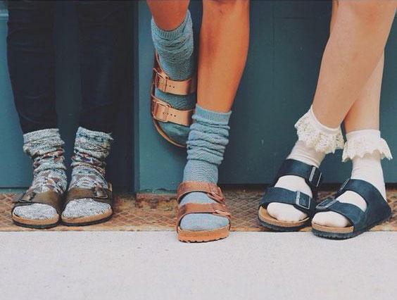 Birkenstock-sandal-with-socks-three-girls