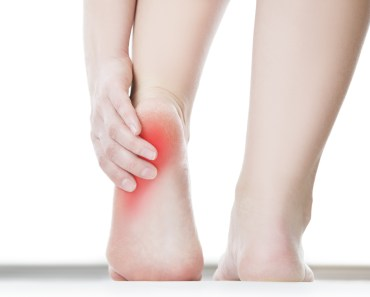 Heel pain in the female foot