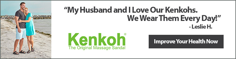 Improve your health now with Kenkoh Massage Sandals!