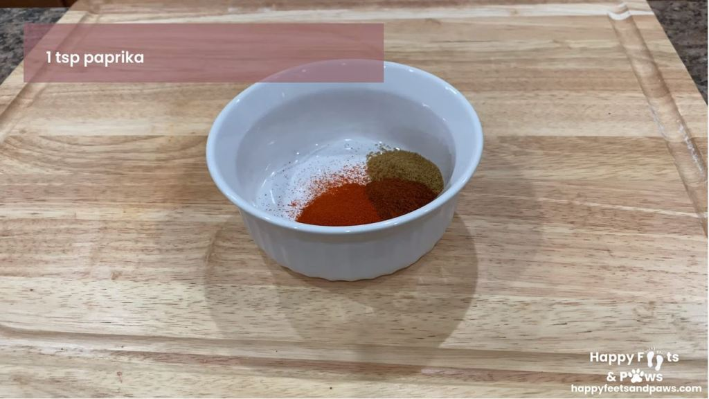 fajita seasoning being assembled in a glass container