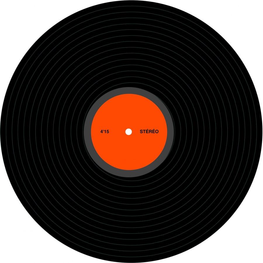disque vinyl de deco