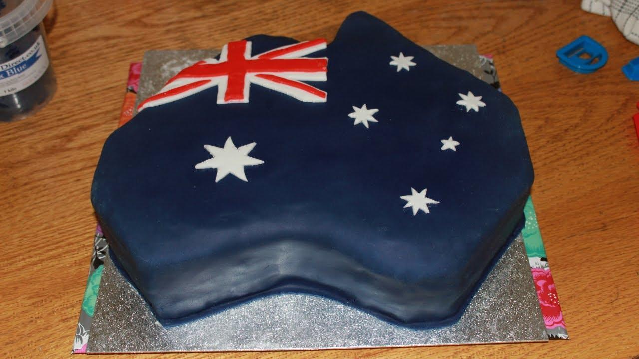 Australia Shaped Flag Cake Happy Foods Tube