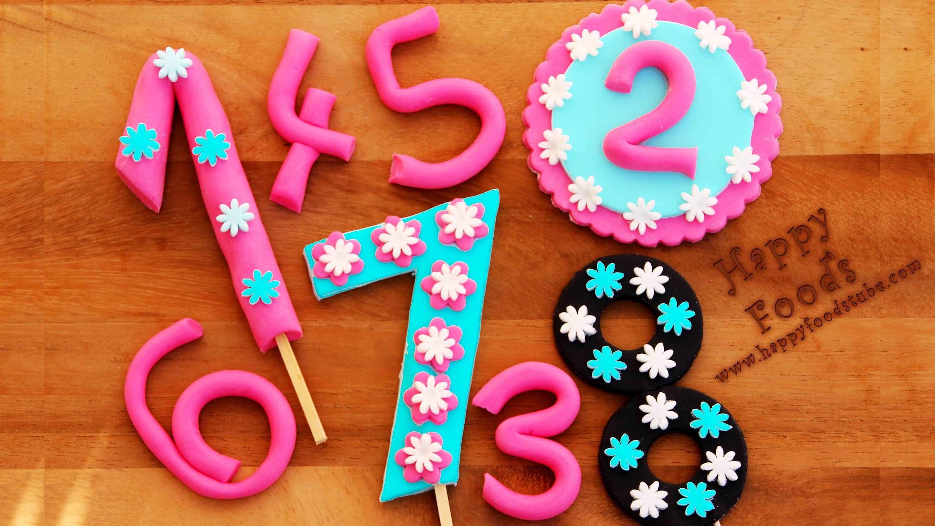 How To Make Fondant Numbers For Birthday Cake Video