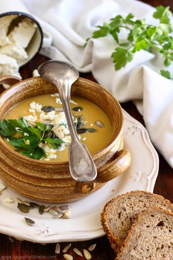 Creamy Chickpea Soup with Coconut and Feta Image