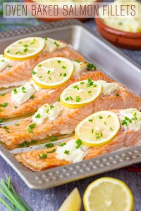 Oven Baked Salmon Fillets Recipe