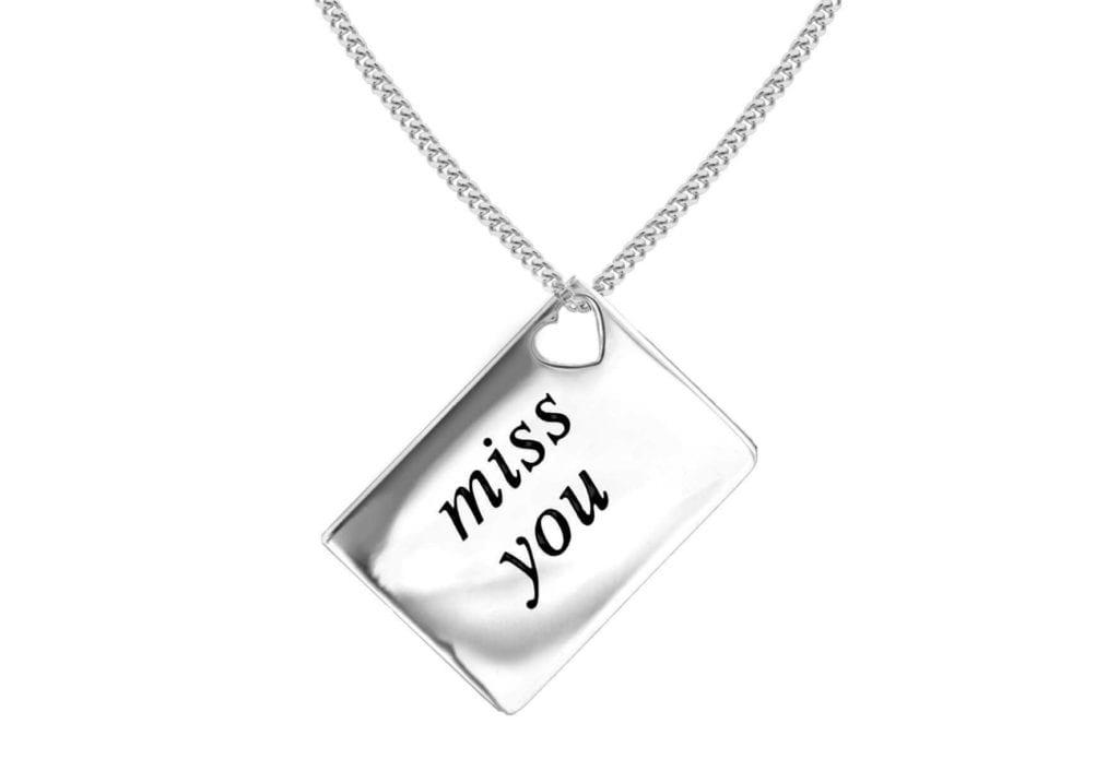 Miss You Love Letter KeepsakePendant Happy Glastonbury