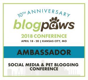 BlogPaws Conference Ambassador Badge