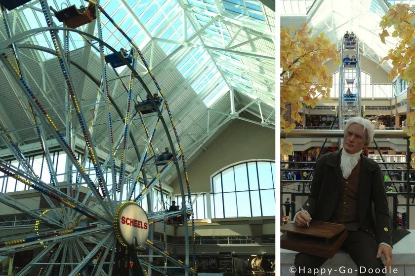 Ferris wheel inside Scheel's store located in Kansas City