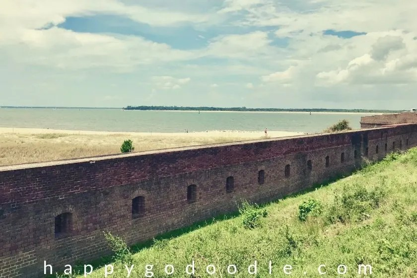 photo of view from fort clinch state park in amelia island