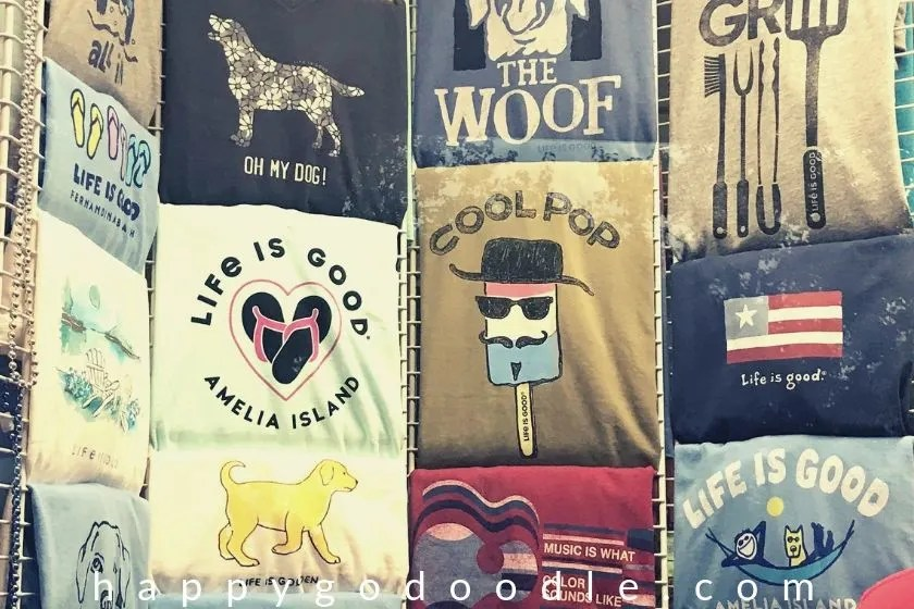 photos of t-shirts with dog sayings as shopping is a fun thing to do in amelia island