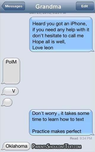 Mom texts