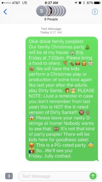 Dirty Santa invite