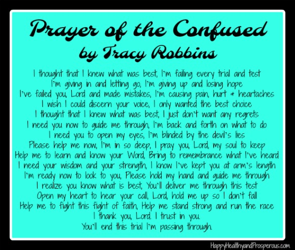 Prayer of the Confused