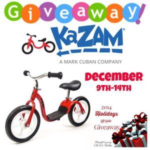 KaZam Balance Bike Giveaway