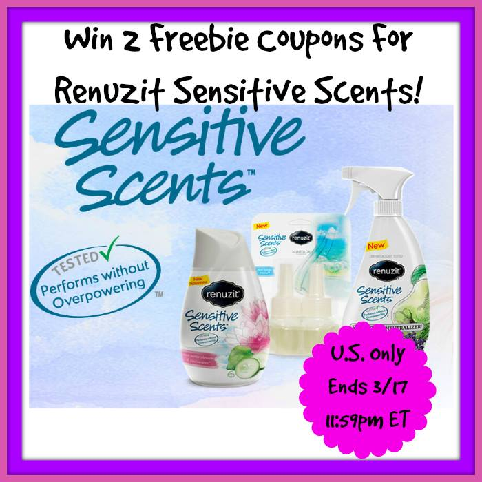 Renuzit Sensitive Scents Giveaway