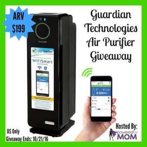 Guardian Technologies Air Purifier Giveaway