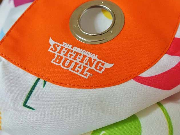 Sitting Bull Logo Orange Kinder Sitzsack Happy Zoo Tiersilhouetten Kinderzimmer-Haus Verlosung von happyhomeblog
