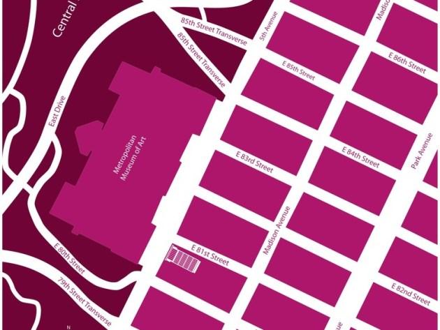 Avenue Teppich New York in pink weiss. Eigene Pantone Farben. Individualisierbar